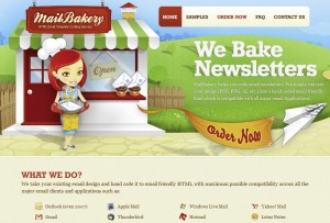 MailBakery.com Newsletter Design Services home page full size image