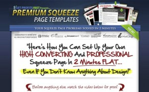 PremiumSqueezePageTemplates.com Squeeze Page Templates home page full size image