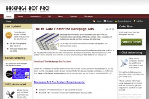 BpBotPro.com Classified Ad Posting Software home page full size image