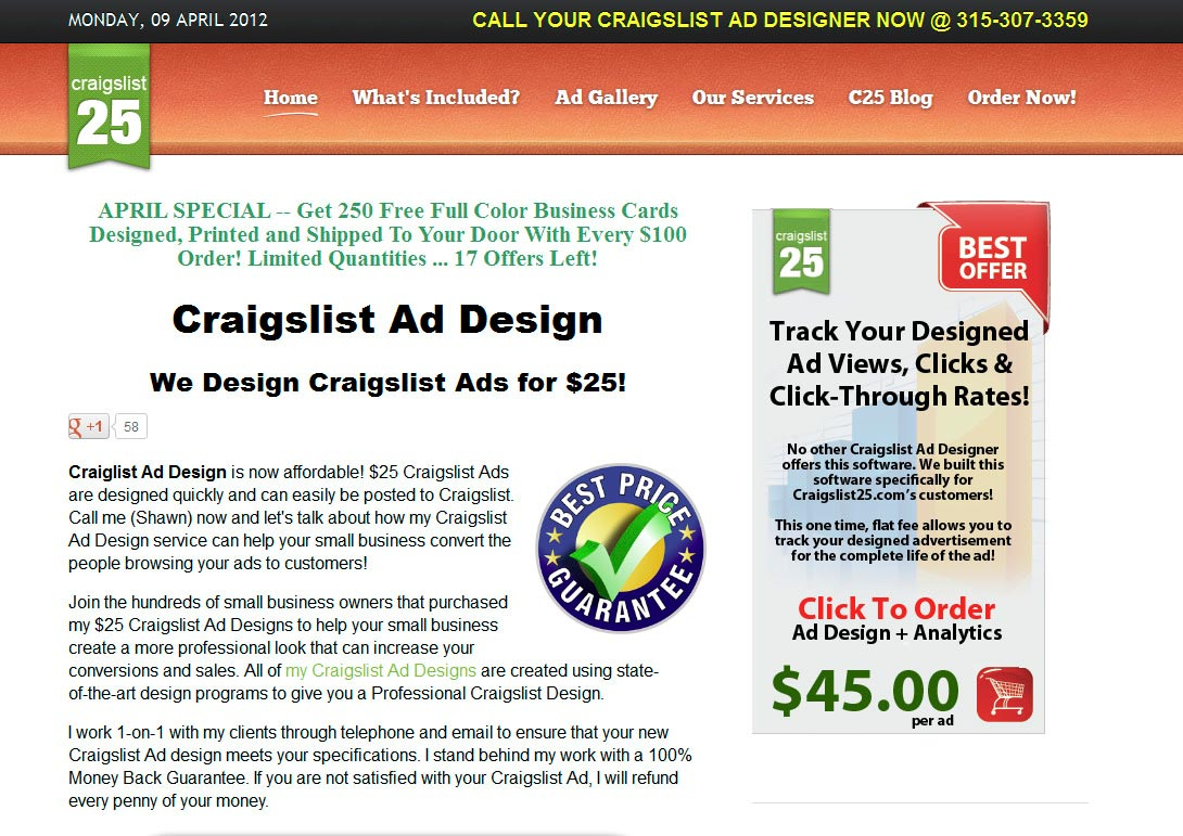 Craigslist Classified Home Page