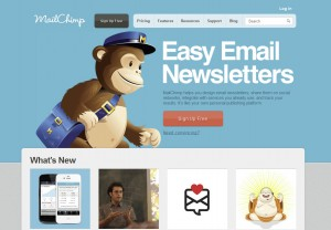 MailChimp.com Email Newsletter Software home page full size image
