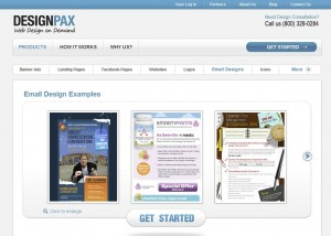 DesignPax.com Newsletter Design Service home page full size image
