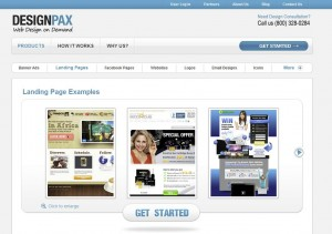DesignPax.com SEM Landing Page Design home page full size image