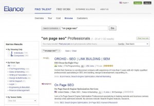 Elance.com On-Page SEO Service page full size image
