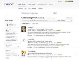 Elance.com Twitter Background Design page full size image