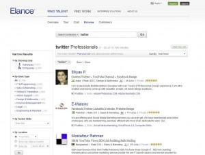 Elance.com Twitter Marketing Service page full size image