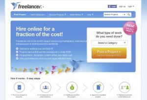 Freelancer.com Mobile Website Design home page full size image