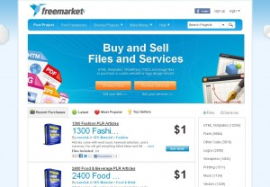 Freemarket.com Feed Management Service page full size image