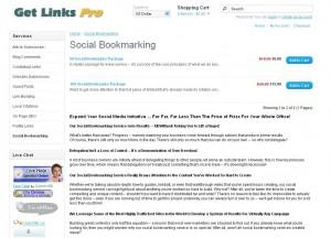 GetLinksPro.com Social Bookmarking Service page full size image