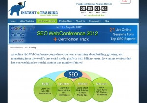 InstantETraining.com SEO Training Course page full size image