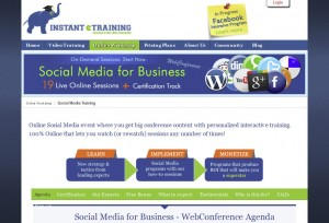 InstantETraining.com Social Bookmarking Service page full size image