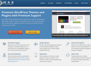 MaxFoundry.com Wordpress Squeeze Page Themes and Plugins home page full-size image