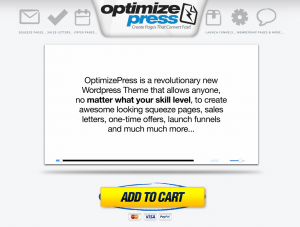 OptimizePress Wordpress Squeeze Page Theme home page full-size image
