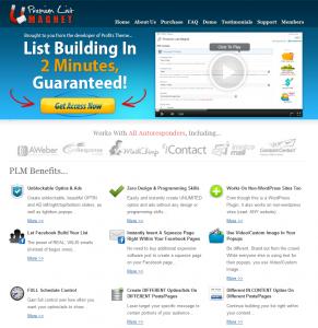 PremiumListMagnet.com ListBuilding Plugin full-size home page image