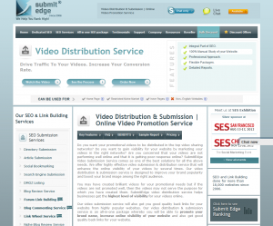 SubmitEdge.com Video Distribution page full-size image
