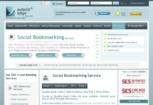 SubmitEdge.com Social Bookmarking Service page full size image
