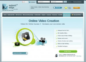 SubmitEdge.com Video Ad Production Service page full size image