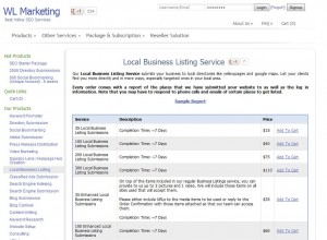 WLMarketing.com Local Directory Listing Service home page full size image