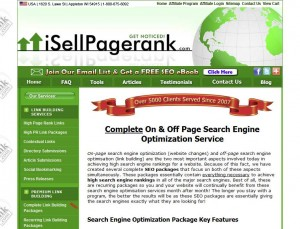 iSellPR.com On-Page SEO Service page full size image