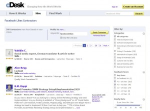 oDesk.com Buying FB Likes or Fans home page full size image