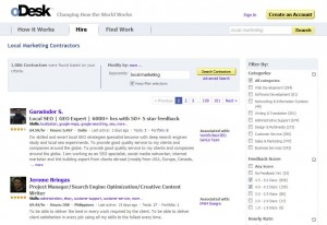 oDesk.com Local Online Marketing Service home page full size image