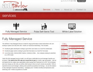 AdParlor.com FB Ads Management Service page full size image