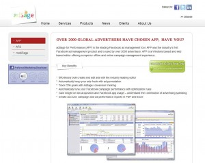 AdSage.com FB Ads Management Software page full size image