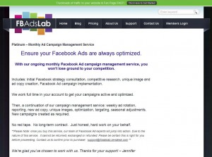 Fbadslab.com FB Ads Management Service page full size image