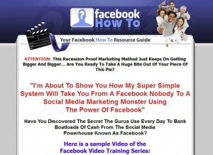 FBVideoTraining.com Facebook Marketing Tutorials home page full size image