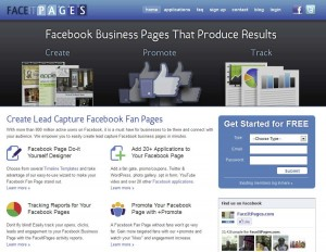 FaceItPages.com Fan Page Design Software page full size image