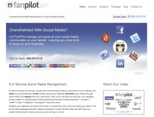 FanPilot.com Fan Page Management Service home page full size image