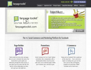 FanpageToolkit.com Fan Page Management App home page full size image