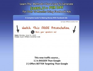 Fbadsguide.com Facebook Advertising Tutorial home page full size image