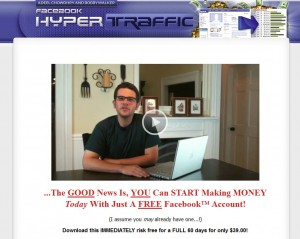 Hyperfbtraffic.com Facebook Marketing Tutorials home page full size image