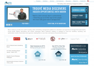 Marin Ad Management Software Home Page full-size image
