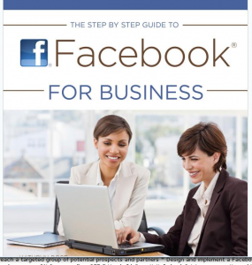 The Step by Step Guide to Facebook for Business book full-size front cover image