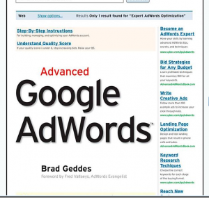 Advanced Google Adwords book front cover image