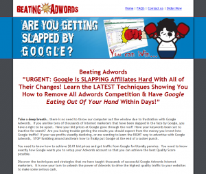 Beating Adwords Google Adwords training tutorial home page full-size image