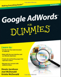 Google AdWords For Dummies book front cover image