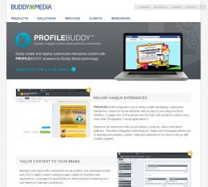 ProfileBuddy fan page app management platform page full-size image