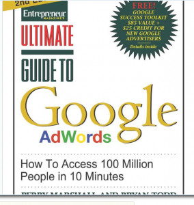 Ultimate Guide to Google Adwords book front cover image