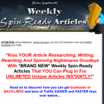 Weekly Spin Ready Articles thumbnail image