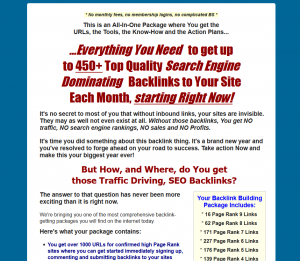 5000Backlinks.com Link Building Tutorial full size home page image