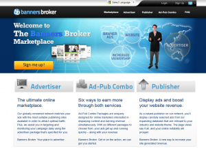 BannersBroker.com banner ad network full-size home page image