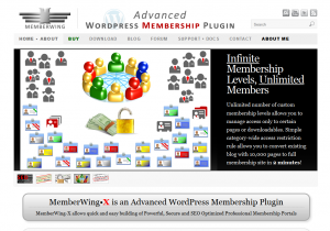 Memberwing.com Wordpress membership/affiliate plugin home page full-size image