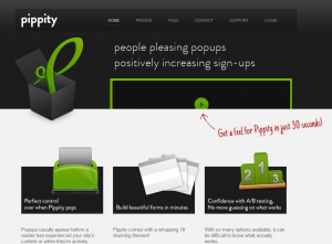 Pippity.com Wordpress Pop up Form plugin full-size home page image