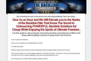 TheBacklinkCommander.com link building tutorial home page full size image