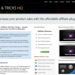 Tips and Tricks HQ Affiliate Platform Plugin full-size page image