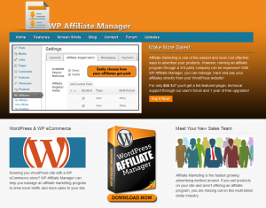 WPAffiliateManager.com Wordpress Affiliate Management Plugin home page full-size image