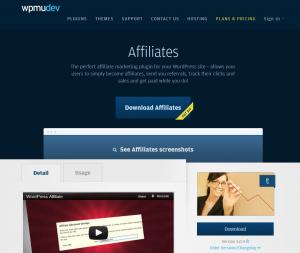 WPMU DEV Affiliates Plugin page full-size image